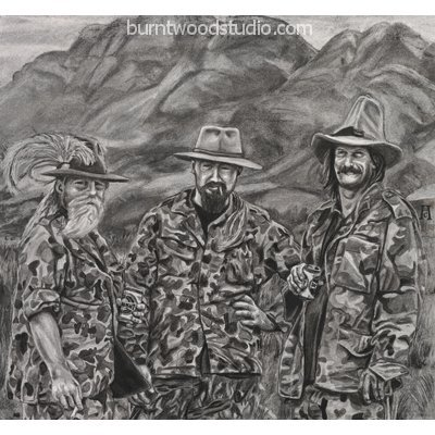 Click to view full size image: The Three Hunters